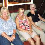 Sitting on the deck of our cottage in Ontario, Canada, from left to right are Barb Crawford, Tina Fleming and Meg Haber.