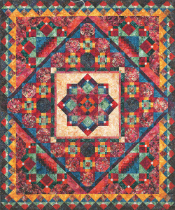 The Material Girls' fundraiser quilt, Nature's Jewels.