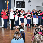 Approximately 30 Robson Ranch Singers participated in a Veterans Day program in Arizona City on November 10 under the direction of Jacquie Fedie and accompanied by Sandy Kantrud.