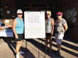 Judy Huber, Jeri Srenaski and Kay McMurray help out with the tournament.