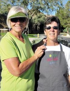 "Paula Steger and ""Best in Class Baked Beans"" winner Jean DeChristopher"