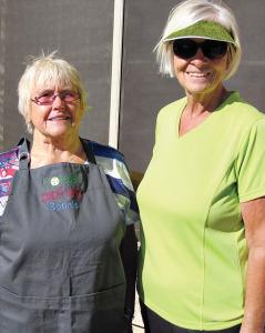 """Best in Class Potato Salad"" winner Bonnie Pixley and Paula Steger"