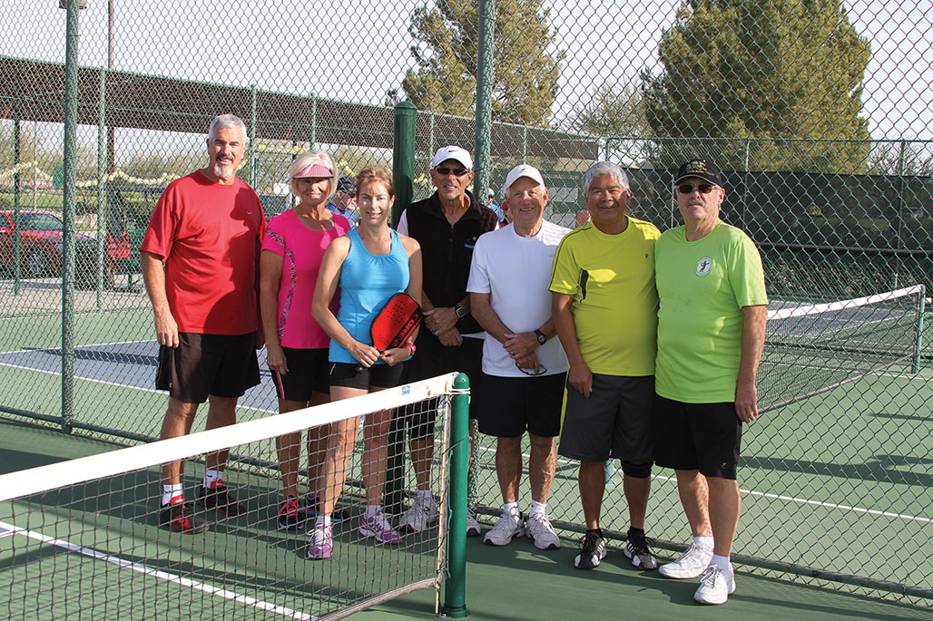 Dave Wong's Training Crew from left: Steve Arthur, Paula Steger, Dawn Grout, Richard Shine, Bob Burton, David Wong and David Lawell. Missing from photo is Larry Kraus. Picture taken by Sue Sherwood.