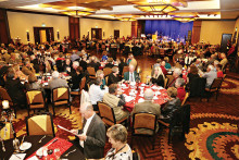400+ guests in the stunning Hermosa Ballroom