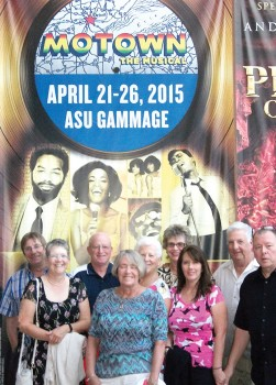 Show-Goers members arriving early for the opening night of Motown the Musical