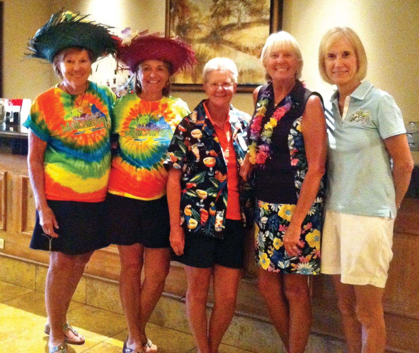 Left to right: Joanne Heiman, Layne Jones, Bobbie Johnson, Patty Bruchez and Robin Barber.