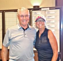 Flight two, third place: Darryl Desserault and Patty Burchez