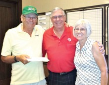 Flight one, second place: Tom Gayer, owner, Russ Stocek and Pat Linderman