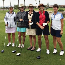 On a cloudy, rainy early morning, the RRLGA had five women who braved the weather. Pat Linderman, Chris Clark, Candy Burtis, Joanne Heiman and Jean DeChristopher were rewarded with beautiful weather after they got through the first few holes. Come on out and join us on Tuesday mornings.