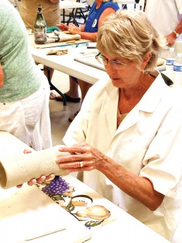 How to clean up your piece and make it ready to bisque and then glaze, Connie Koza
