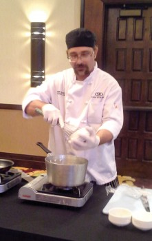 Chef Ben gave a cooking demonstration at the Ladies Social Club meeting.
