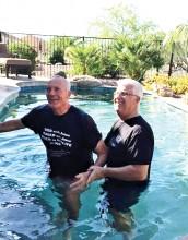 Rock Springs Church celebrates baptisms.