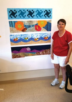 Lou Downey's Row by Row Quilt; photo by Sue Price.