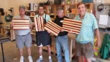 Ron Hansen, Ray Delgado, Frank Morse and Rami Mayron displaying the first class project