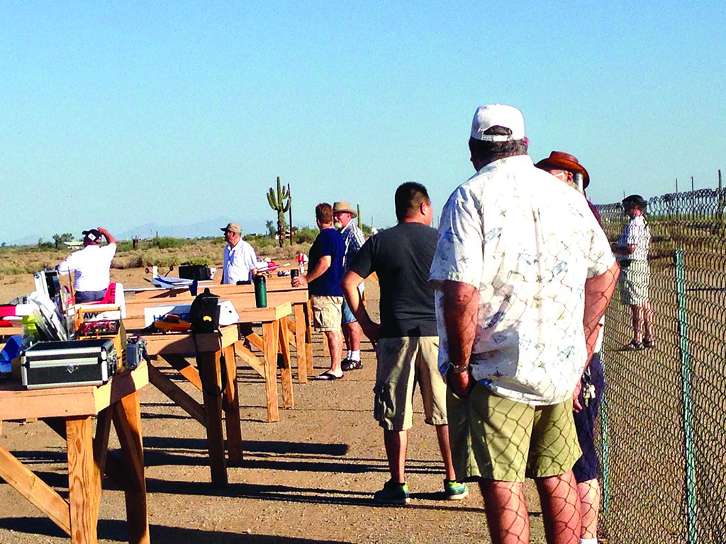 Robson Ranch residents and other area residents attending last year's swap meet and fun fly events.