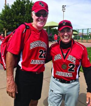 Dave Waibel, manager, and Dave Rinaldo, GM