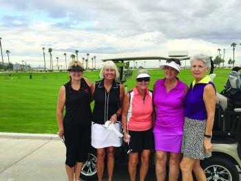 Teresa Baxter, Patty Bruchez, Bobbie Johnson, Terry Rattey, new member, and Debbie Hatcher