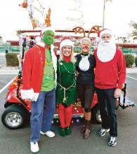Ron, Kim, Jill and Ted, aka Grinch, Elf, Rudolph and Santa!