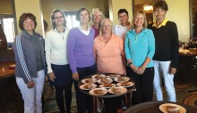 New members to the Robson Ranch Ladies Golf Association, front row: Debra Parker, Mary Pryor, Joanne Johnson, Betty Kumbera, Pam Reese and Marcia Tiefenthaler; back row: Jan Kinley and Terry Rattey. New members not pictured: Nancy Watt, Deb Stenerson, Robin Dunlop, Kathy Peterson and Flo Van Volkom; photographer, Judy Brozek