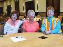 Volunteers Joanne Heiman, Cheryl Babb and Barbara Desserault