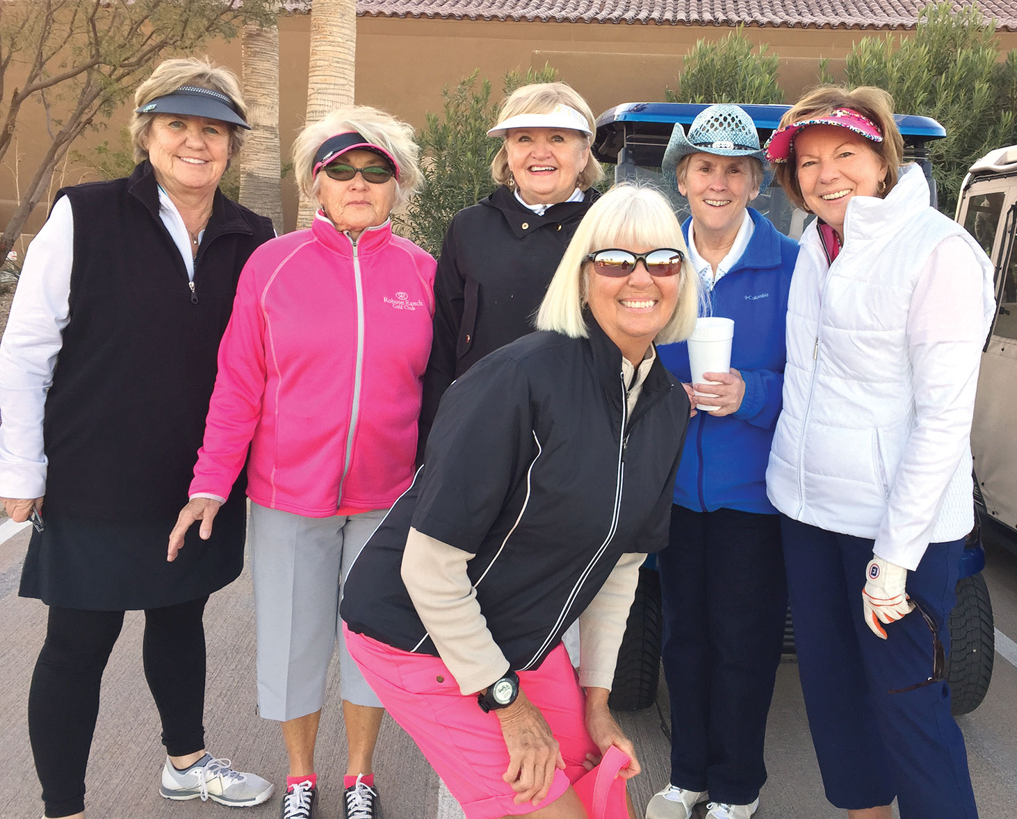 Members and guests: Marylou Walton, Patti Baumann, Jeri Srenaski, Sandy Horzauk, Joanne Heiman; in front Patty Bruchez
