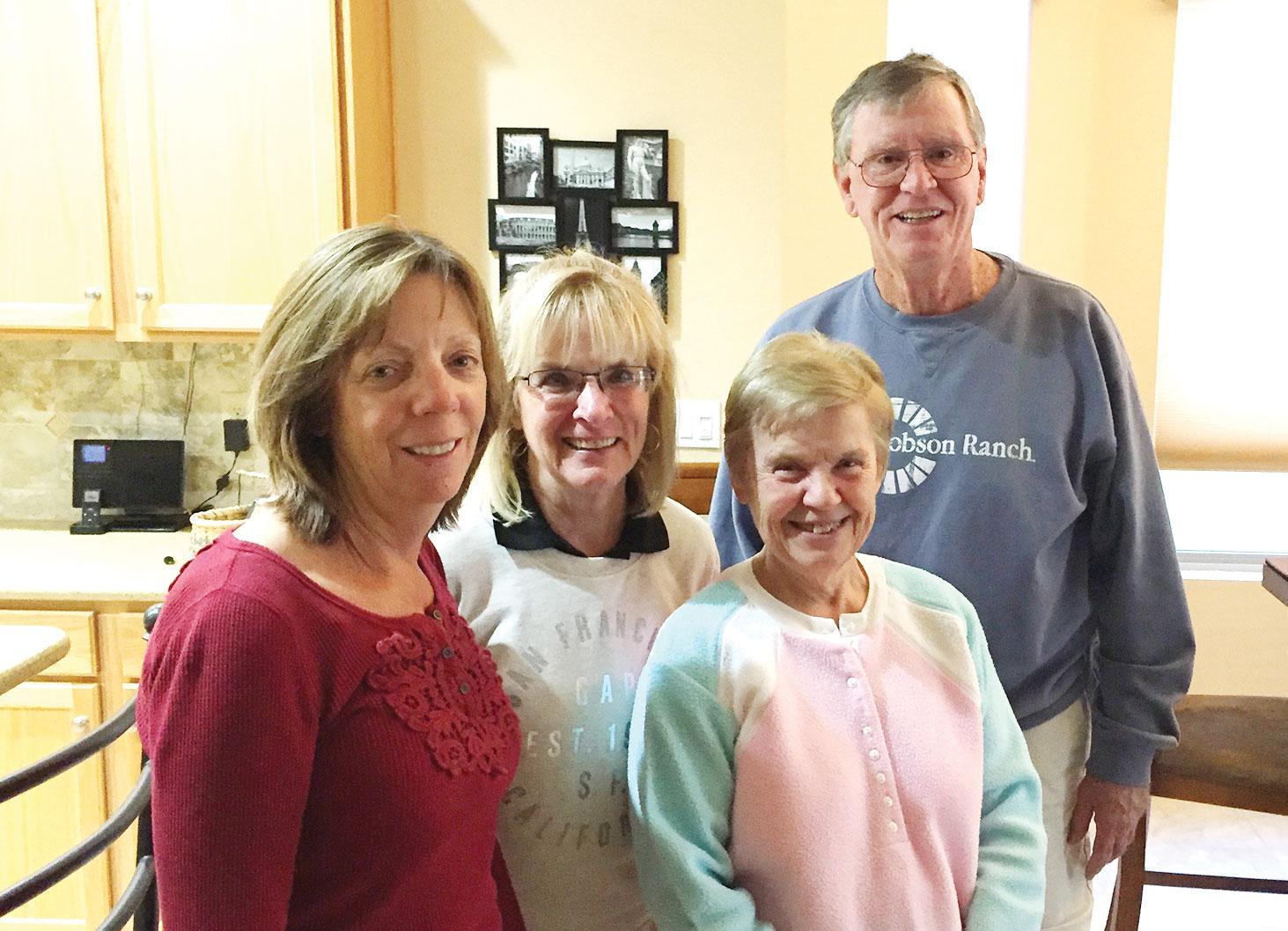 Tennis Club 2017 Executive Board: Barbara Sewell, Linda Gayer, CJ Azaria and Bill Christofferson; missing was Tom Harris