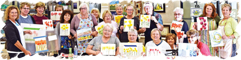 The January watercolor class