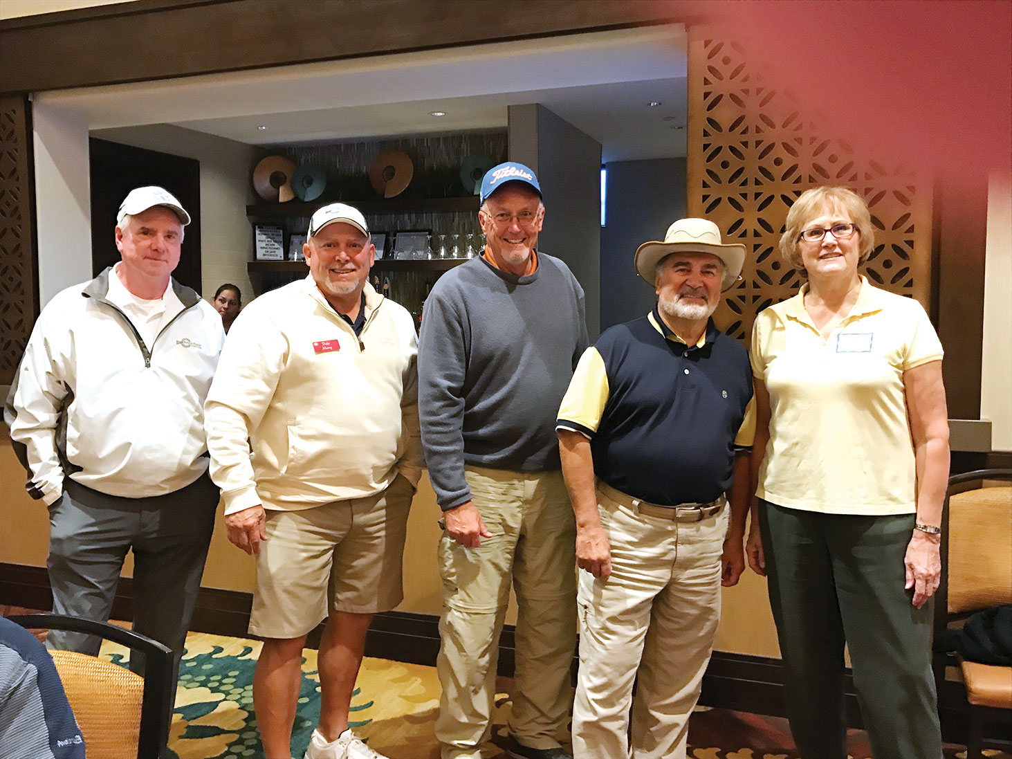 Winners from the RRMXPL event on 1/19/2017, left to right: Ben Blissett, 5th place; Dale Mumy, 4th place; John Sullivan, 3rd place; Stan Lukasik, 2nd place; and Carol Ilten, 1st place.