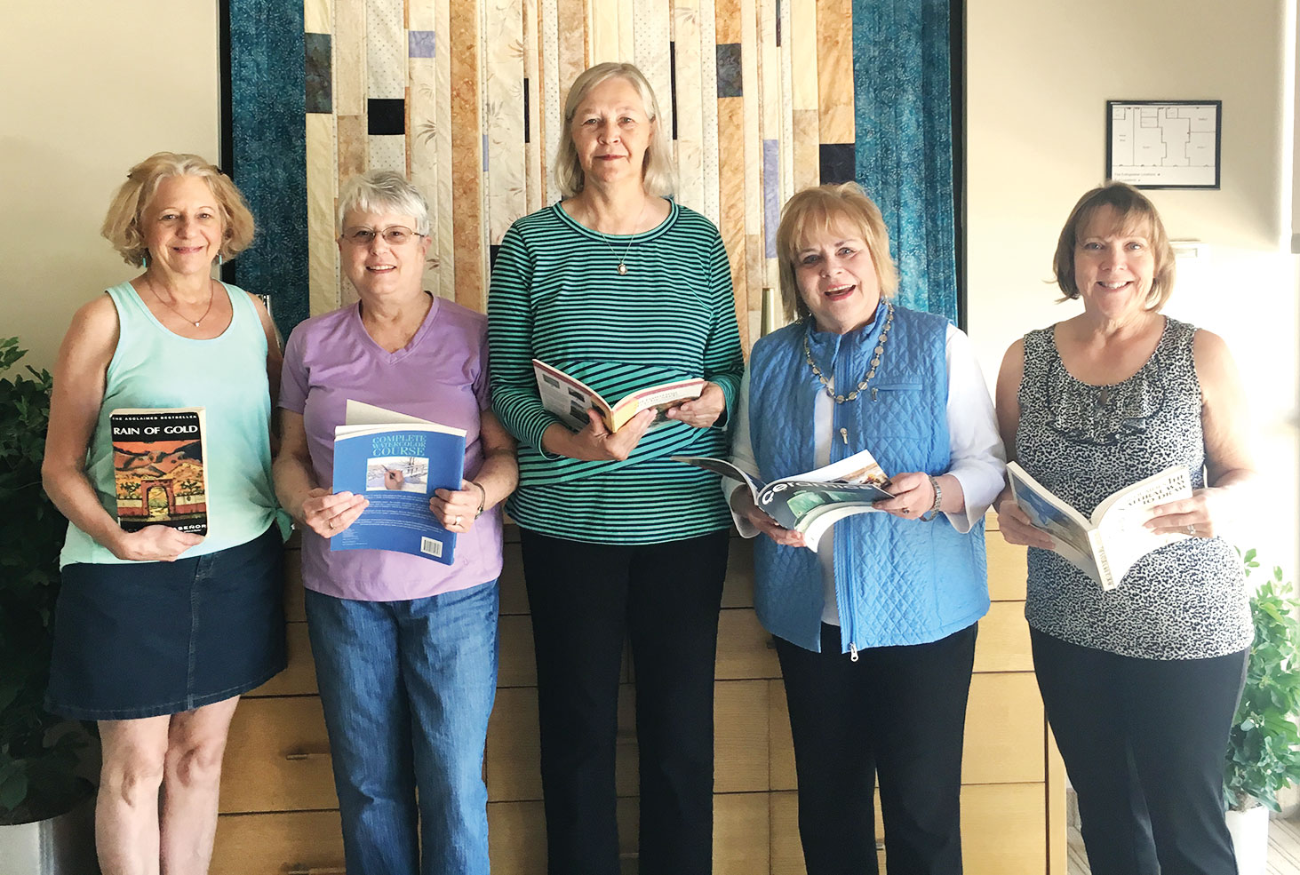Left to right: Chris Poppen, Nancy Friedman, Karen Leland, Mary Beth Smith and Julie Getchman; not pictured: Melanie Douglas, Wendy Brown, Judy Gottsch, Mary Kindt, Roberta Newman, Beth McGuigan and Bev Bartlett