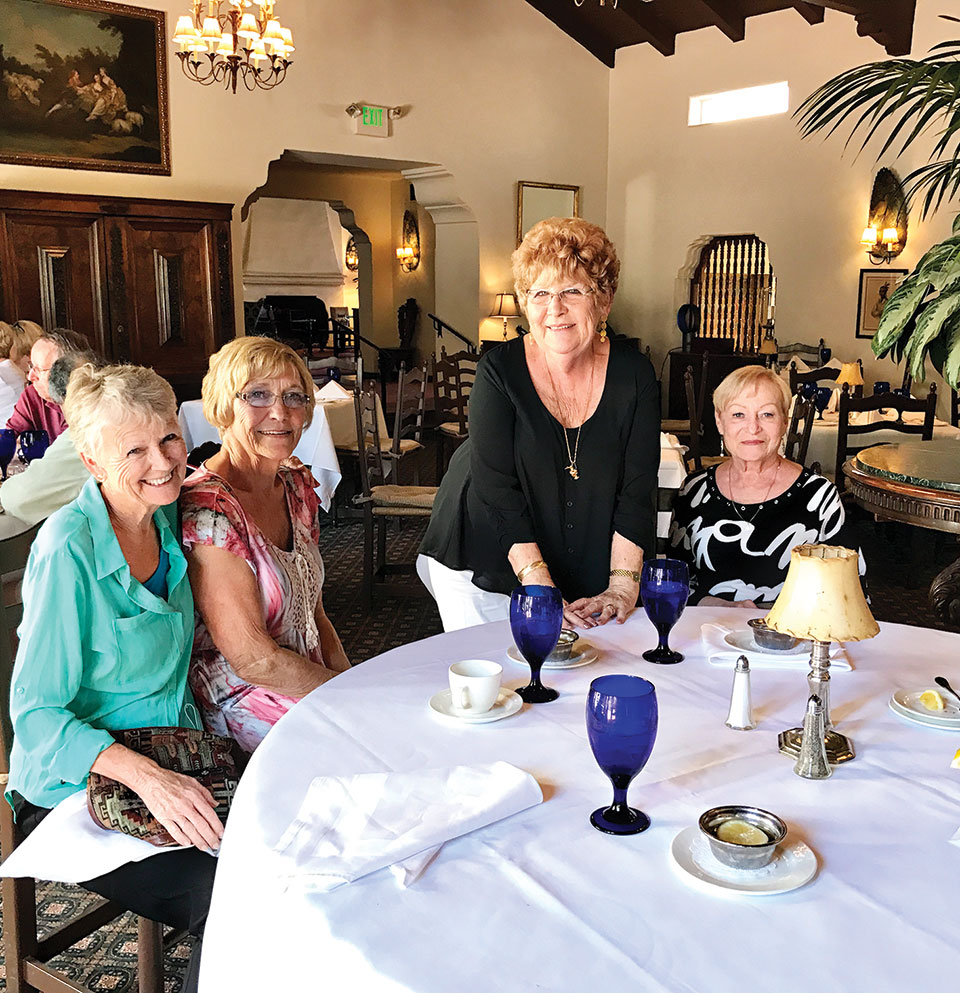 Club members, back row: Carol Burghardt; left to right, seated: Nan Taylor, Lois Milkiewicz, Elaine Paulson and not shown Mary Falek