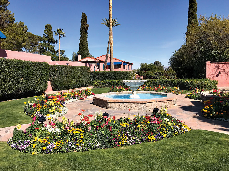 A view of the grounds/garden area