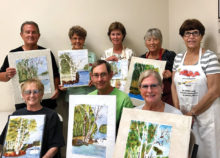 The wonderful results of the students in Maxine's watercolor class.