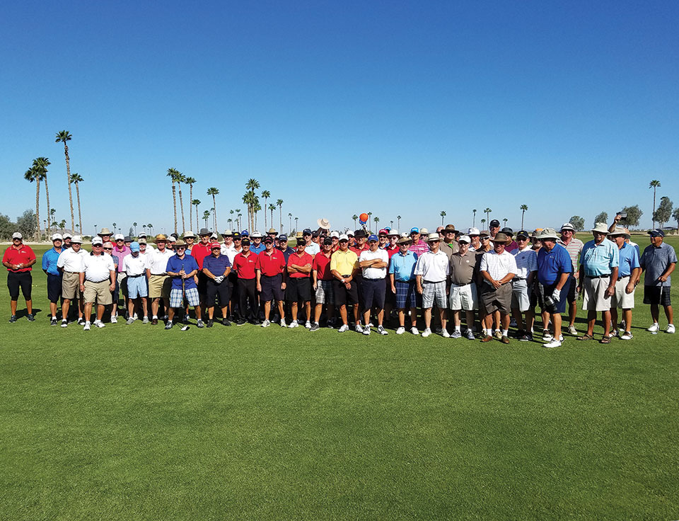 The players with the Robson Ranchers in Red