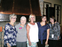 Jan Strycker, Barbara Engelhardt, Cindy Johnson, Ashley Flores and Pamela Burke