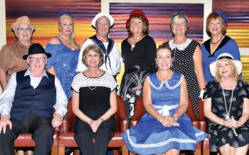 Front: Steve Gove, Connie Koza, Kim Gibbs, Sharon Hoffschneider; back: Linda Ottle, Sue Hart, Bev Stevenson, Deb Parker, Janice Murphy, Jan Stocek; Photo by Charlene Rule