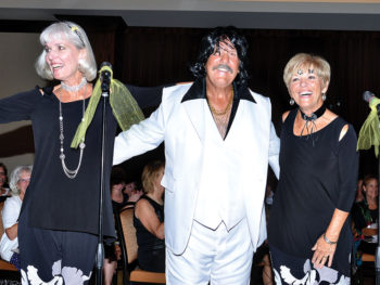 Lisa Hunt, Lyn Worner, Sue Waibel as Tony Orlando and Dawn; Photo by Charlene Rule
