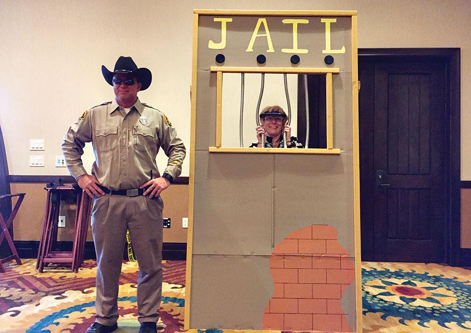 Sheriff Jay Wilson and prisoner Judy Brozek