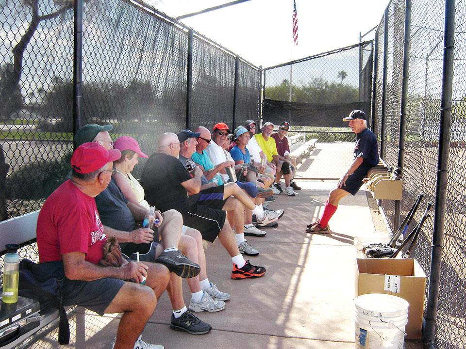 The softball players