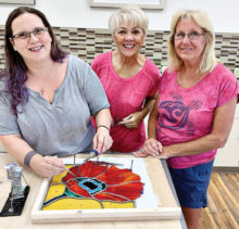 Left to right: Kelli Fitzgerald, Sue Waibel and Susie Young.