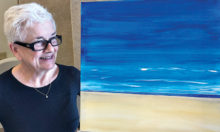 Jillian Moons starts on her new abstract