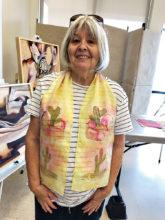 JoAnn Bunyea's cactus scarf