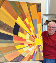 Just half of Nils Johnson's new sun abstract