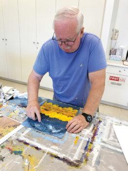 Nils Johnson will demonstrate palette knife painting.