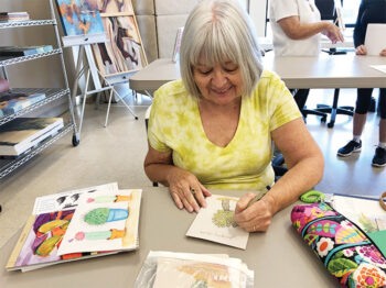 Joan Bunyea will demonstrate drawing with colored pencils.
