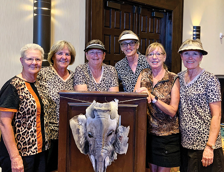Left to right: Bobbie Johnson, Mary Lou Walton, Kathy Holwick, Dee Lee, Barb Gayer, and Candy Burtis.