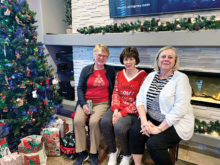 Second place team members--Mary Jo Albrecht, Ruth Faivre, and Connie Kwilasz