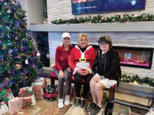 Third place team members Celeste Krahl, Sheryl Maydew, and Barb Wilson; not pictured--Tina Fleming