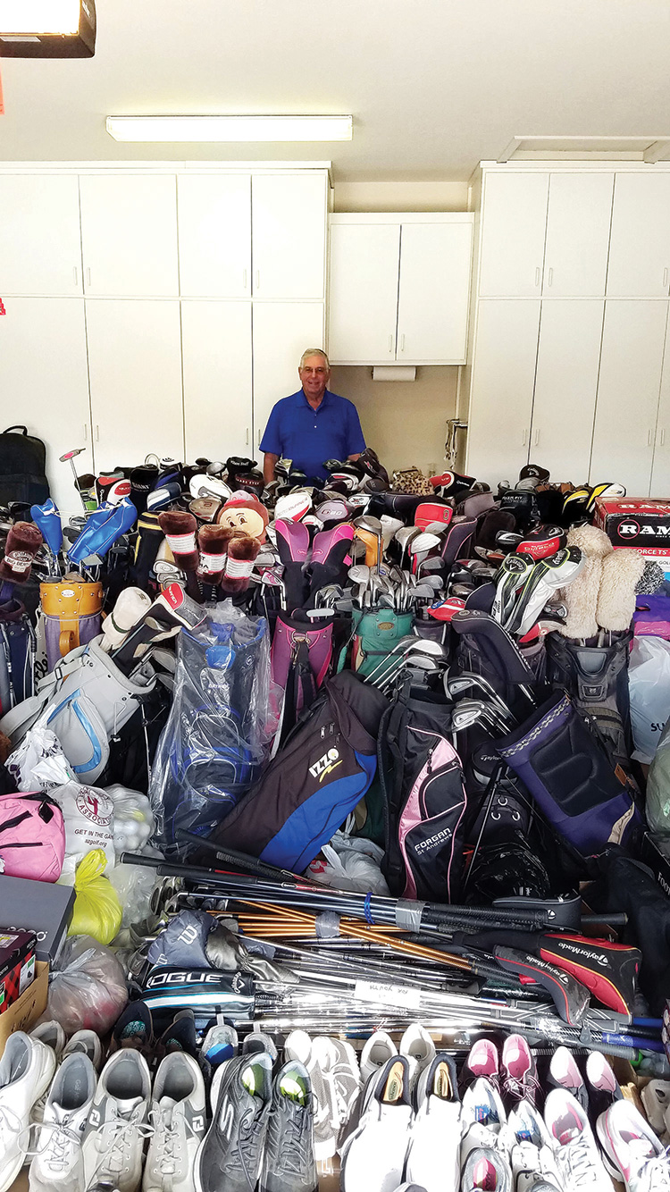 Russ, surrounded by all the equipment.