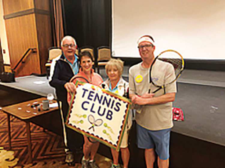 The Winter 2020 MasterMind! Feud Champions are the Robson Ranch Tennis Club (from left): Bob Pomplun, Marsha Oliver, Patti Baumann, and Dave Cannella.