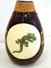 Gecko Vase by Terri Mount
